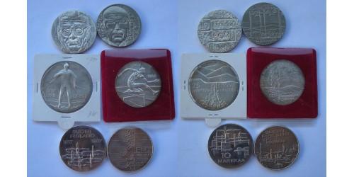 Финляндия. Серебро. Подборка из 6 монет. UNC.