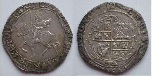 Англия. Карл I. 1/2 кроны 1625-1649гг. Вес 13,70 грамм.