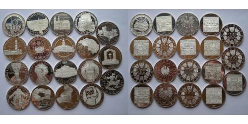 Австрия. Серебро. 19 монет по 100 шиллингов 1975-1979 гг. Proof. Все монеты разные.