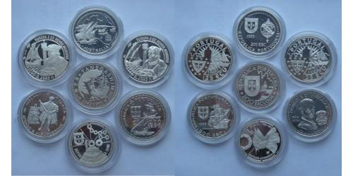 Португалия. Серебро. 7 монет Proof. Все монеты в оригинальных капсулах.