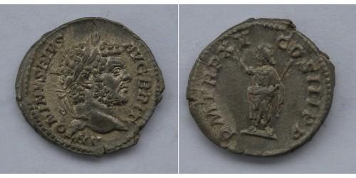 Римская империя. Каракалла, 198-217 годы, денарий. Вес 3,31 грамма. Диаметр 20 мм.