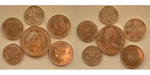 Подборка монет 1960-1972 гг. Серебро. 6 шт.