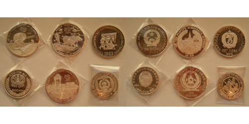 Подборка монет 1973-1996гг. Серебро. 6 шт. Proof.