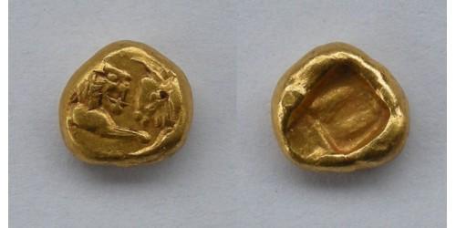 Лидия. Сарды. Крез. AV 1/6 статера. 561-546 до Р.Х. Вес 1,34 грамма. Редкая.