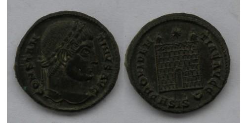 Римская империя, Константин I Великий, 307-337 годы, BI нуммий. Вес 3,53 грамма. Диаметр 19 мм.