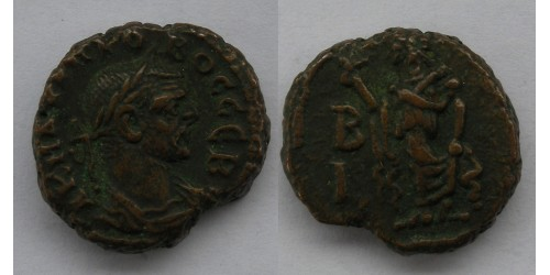 Римская империя. Проб, АЕ тетрадрахма Александрии, 276-282 гг. Вес 7,10 грамма.