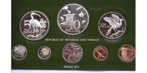 Тринидад и Тобаго. Набор из 8 монет 1977 года. Proof. В оригинальной упаковке.