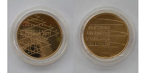 Словения. 100 евро 2011 года. Proof. Золото. Тираж 2500 шт. В оригинальной капсуле.