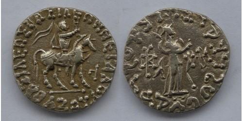 Индо-Скифское государство, Азес II, 35-12 годы до Р. Х. , тетрадрахма. Вес 9,60 грамма.